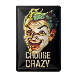 DC Comics - Batman - Joker Choose Crazy Retro - Plaque Métal Vintage Comic SuperHéroen - 20x30