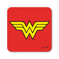 Wonder Woman Dessous de Verre - DC Comics - SuperHéroin - rouge