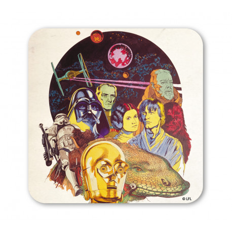 Star Wars Dessous de Verre - Dessin - La Guerre des Etoiles - Drawing Multicolored