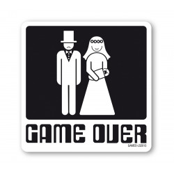 Dessous de Verre Game Over - Partnerschaft et Ehe - noir